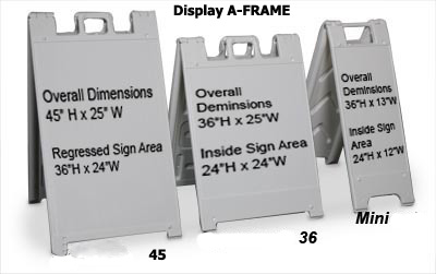 yakima signs and portable a frame signs - A Frame Signs